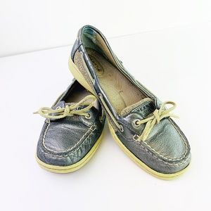 Sperry 9102385 Pewter Loafers Size 7.5
